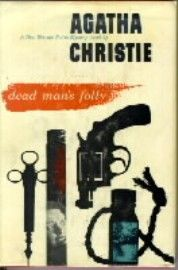 FIRST BOOK COVER of Dead Man's Folly (Hercule Poirot #31) by Agatha Christie, published in October 1956. (Source: Wikipedia)