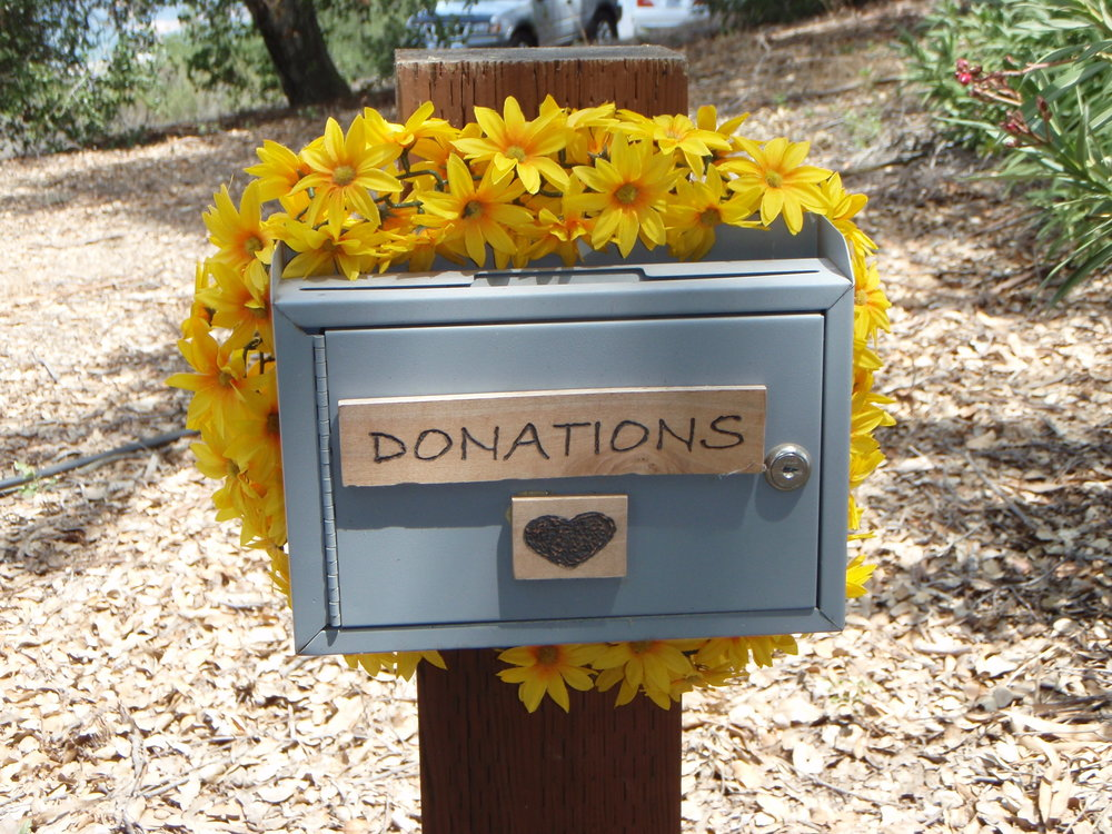 MAKE YOUR DONATION NOW and help Meher Mount reach its $12,600 goal for #GivingTuesday 2016. Your gift supports Meher Mount as a place of world-wide pilgrimage in honor of Avatar Meher Baba. (Photo: Donation Box at Meher Mount, Margaret Magnus)