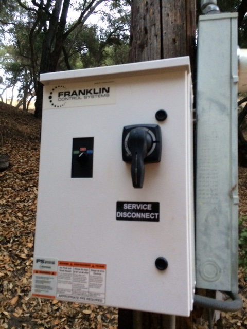THE NEW electrical panel installed near the well head to power the pumping process. (Photo: Buzz Glasky, 2016)