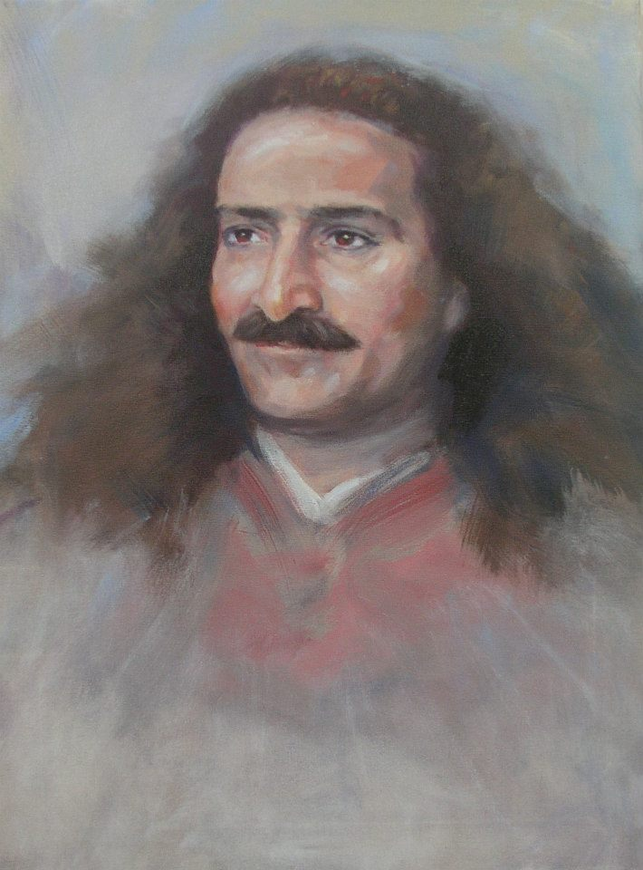 AVATAR MEHER BABA. (Painting by Charles Mills.  Mills Studio .)