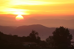 SEEING THE SUNRISE at Meher Mount in Ojai, CA, is one of the joys of being a caretaker. (Photo: Renate Moritz, 2017)