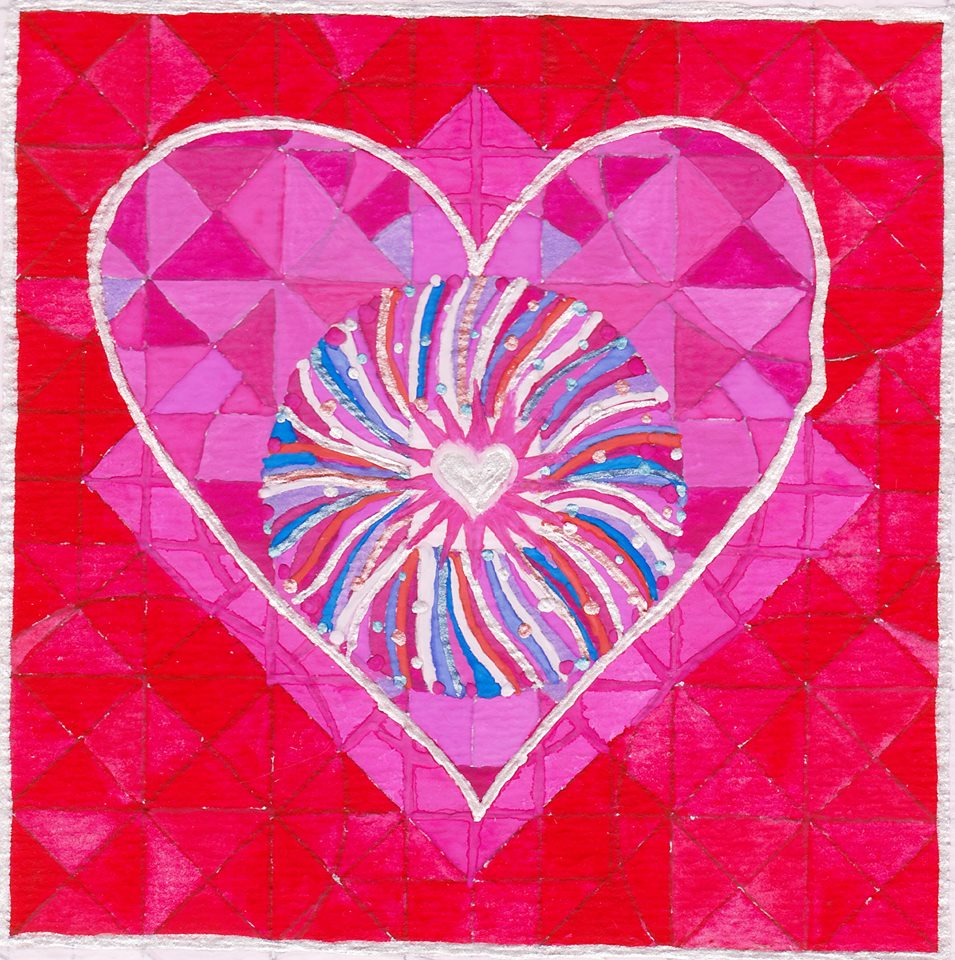 """HEART"" artwork by  Sandy Thurlow , Ojai, CA, 2017. (Used with permission.)"