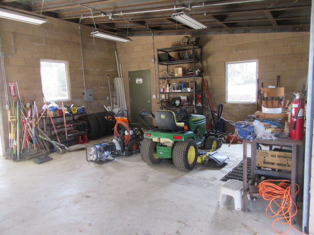 "THE FIRST TASK on Ray Johnston's ""to do"" list was cleaning up and organizing the Workshop. (Photo: Sam Ervin, February 21, 2018)"