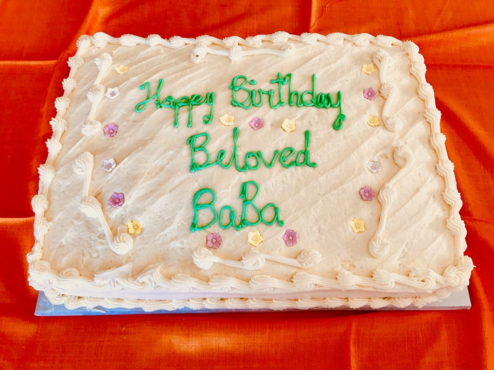 BIRTHDAY CAKE in honor of Beloved Meher Baba's birthday on February 25, 2018 at Meher Mount. (Photo: Buzz Glasky)