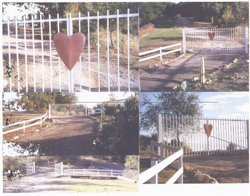 THE WHITE WOODEN FENCE and metal gate installed by Manager/Caretakers Ray Johnston and Elizabeth Arnold in 2003. (Photos: Ray Johnston, November 2003)