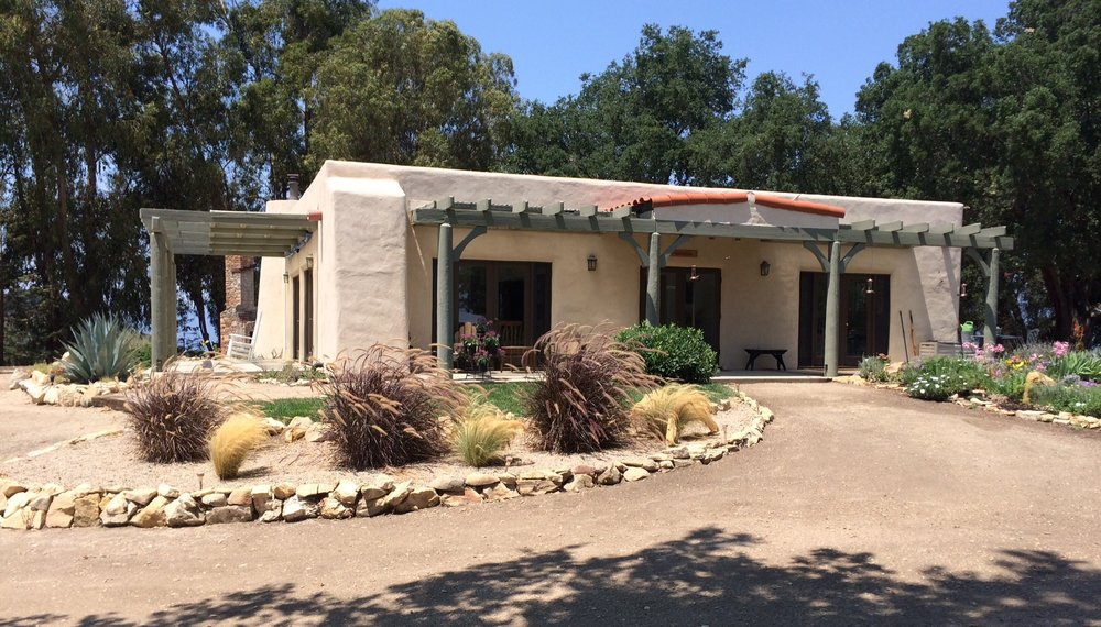VISITOR CENTER & CARETAKER QUARTERS at Meher Mount. (Photo: BSam Ervin)