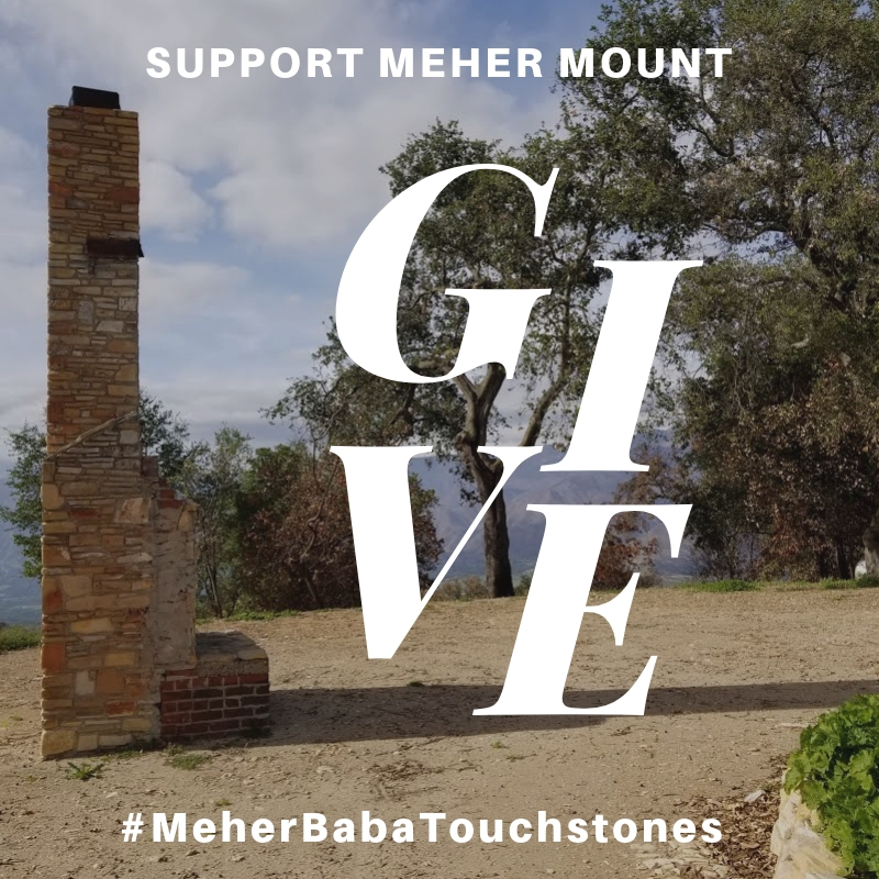 CLICK HERE to make a #GivingTuesday donation for Meher Mount through the PayPal Giving Fund (no transaction fees), and PayPal will donate an extra 1% to Meher Mount.     Baba's Fireplace is one of the touchstones of Avatar Meher Baba's visit to Meher Mount in 1956.