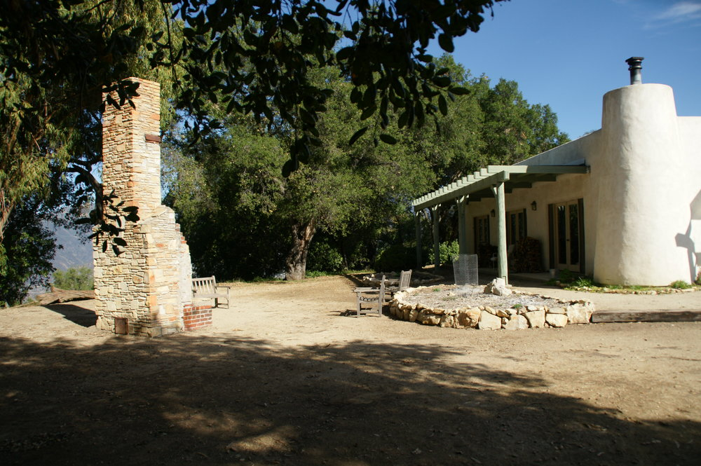 BABA'S FIREPLACE at Meher Mount is on the opposite side of the entrance to the Visitor Center/Caretaker Quarters. The interior door in the meeting room with access to this area has been blocked by furniture for a number of years. The other two doors were in rooms that were part of the private Caretaker Quarters. (Photo: Byron Pinckert, 2012)