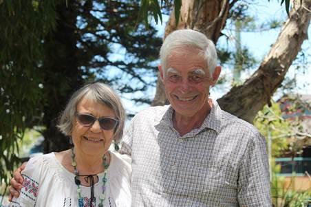 THE BRUFORDS — Jo-Anne and Bernard — at Avatar's Abode in Australia.