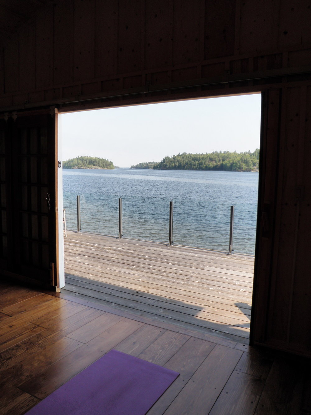 The Boat House - View onto the Bay