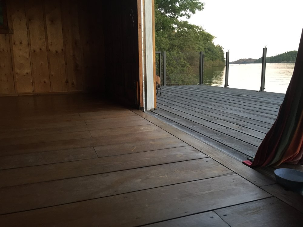 The deck off the Boat House
