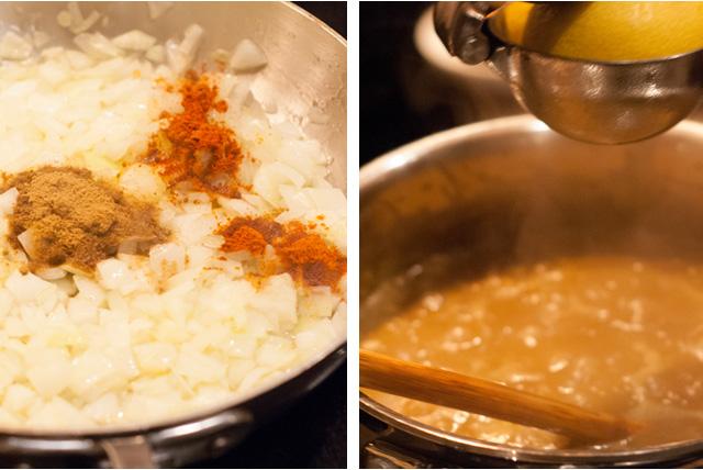 lentil soup process