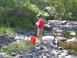 Fieldwork on the Eightmile River in Connecticut