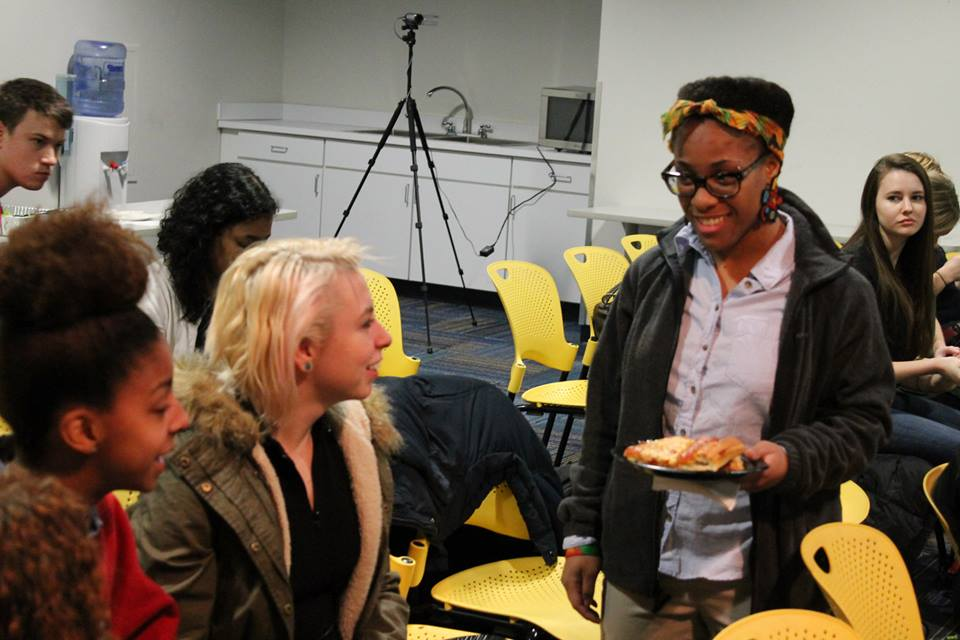 SiD students talking about the amazing Detroit Speakers Series which is open to the public!