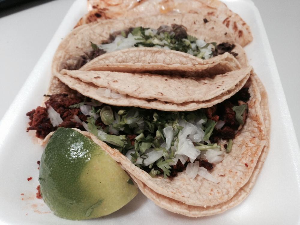 Tacos from La Mexicana