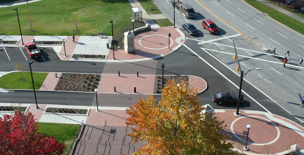 Youngstown State University Spring Street Streetscape