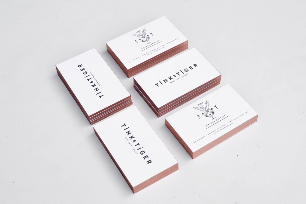New  Tink & Tiger  business cards by  42 Pressed .
