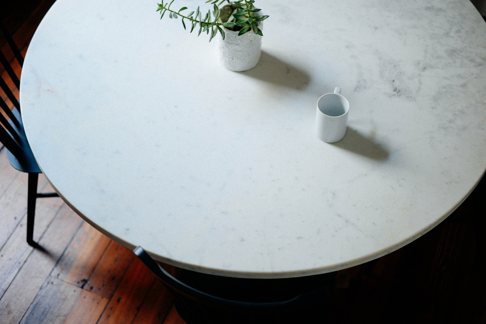 Marble Table. Charleston, SC. 2014.