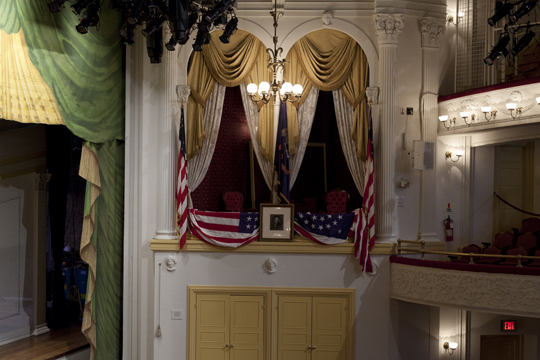 Lincoln's booth at Ford's Theatre