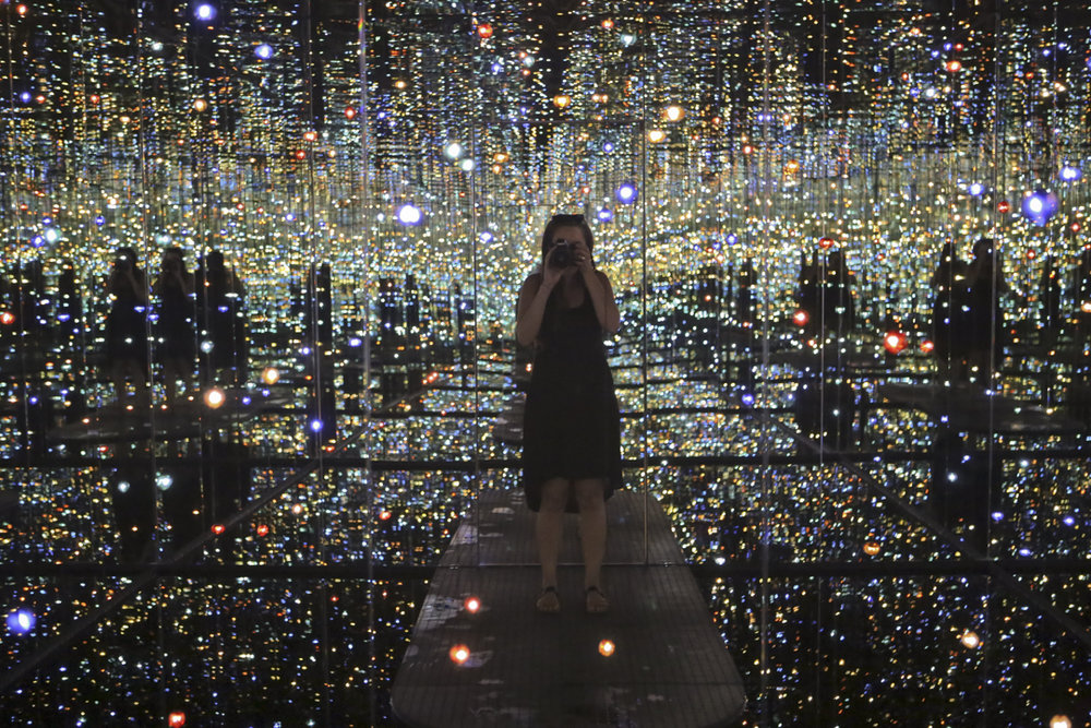 I got to see Yayoi Kusama Infinity Mirror Room. Wow!