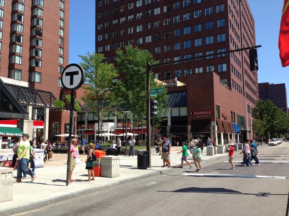 Kendall Square MBTA Plaza, 2013