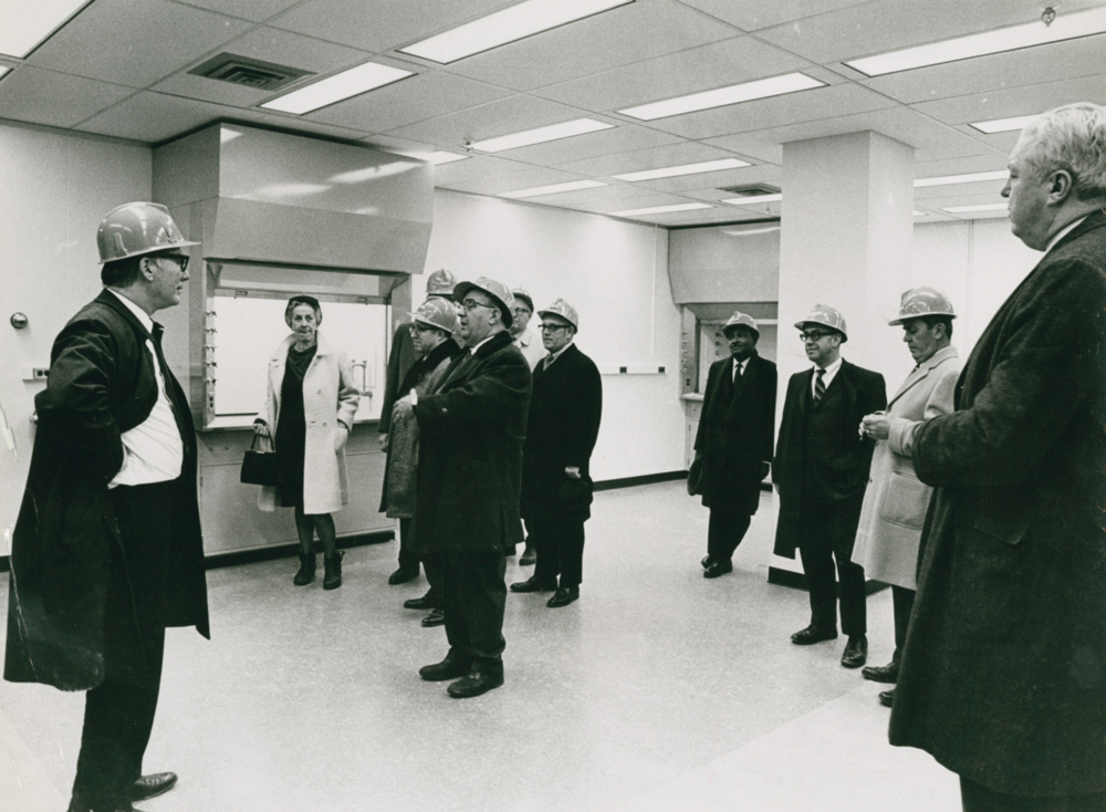 Mayor Sullivan tours NASA Building, 1970