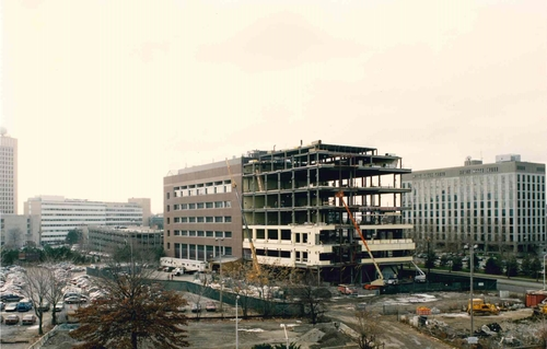 The Whitehead Institute under construction, 1994