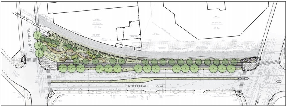 The initial phase of the Grand Junction Pathway will expand the existing sidewalk into a 14-foot wide multi-use path along Galileo Way.