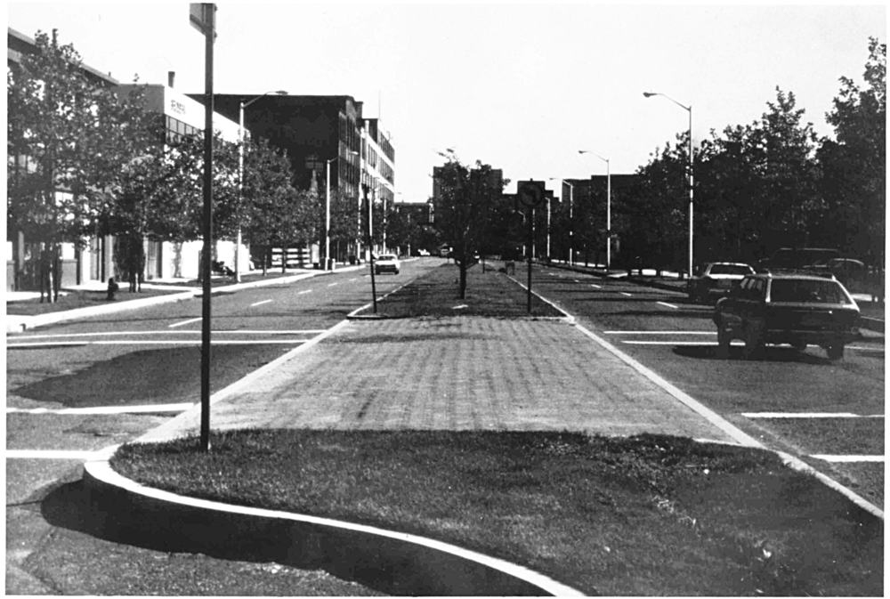 Above: Early photo of then-new Binney Street @ 6th Street (CRA Archives)