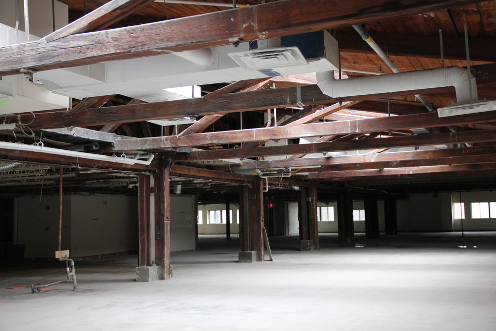 The third floor of the Foundry post interior demolition