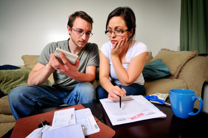 Couple reviewing their life insurance policy