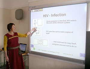 Celia Fisher, delivering HIV Training