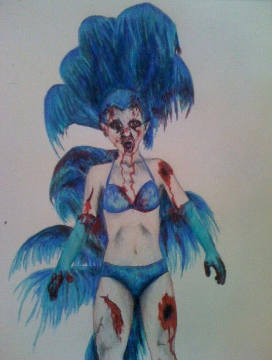 Vegas Showgirl Zombie