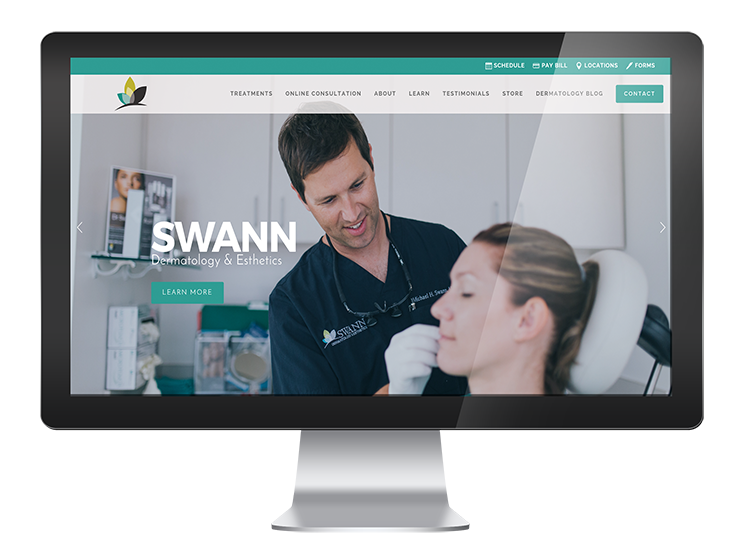 Swann Dermatology - Website Design and Development