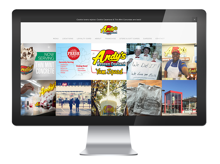 Andy's Frozen Custard - Website Design and Development