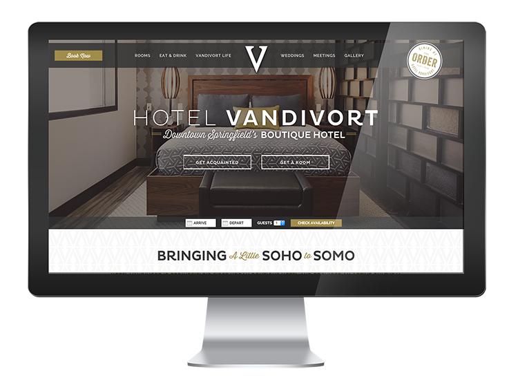 Hotel Vandivort - Website, Graphic Design and Branding Project