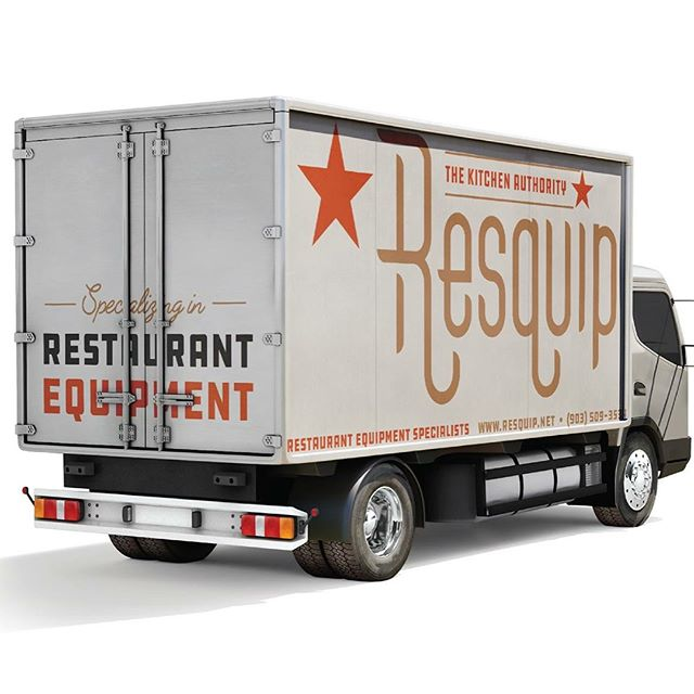 New logo + truck graphics for our friends over at Resquip. • • • #hookcreative #agencylife #digitalagency #designers #creatives #truckgraphics #restaurantequipment #graphicdesign