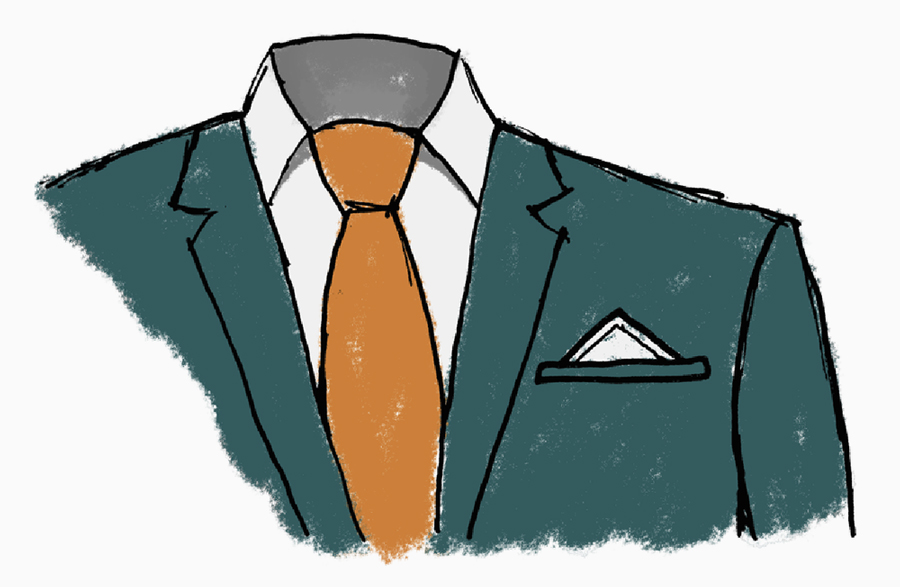 suit and tie illustration