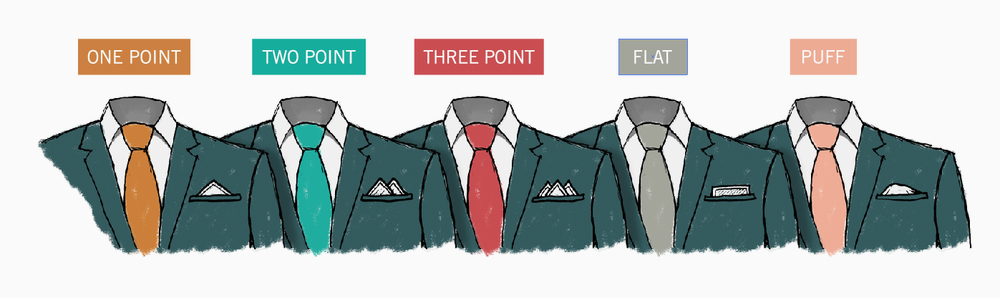 pocket square fold-types