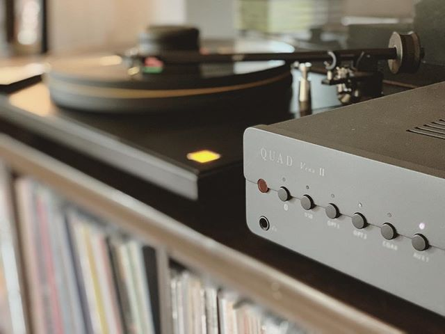 Loving the @quad_hifi Vena II #sumiko #mofi #quadvena #audioalchemy #kef #hifi #vinyl