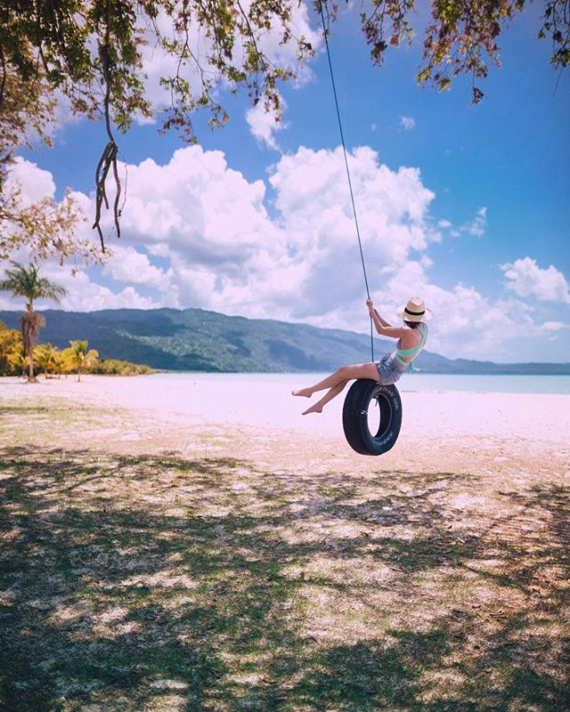 swinging with the breeze on a private beach, with the goats and water buffalo. down a ways, you can find the cliff where Steve McQueen escaped in Papillon. not a bad way to spend the afternoon. #livefunner @visitjamaica
