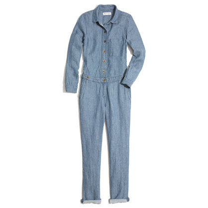 Chambray Machinist Jumpsuit by Madewell, Spring 2014.