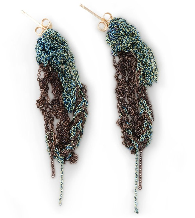 Arielle De Pinto Two Tone Drip Earrings