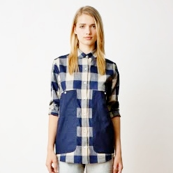 Tumalo Camp Shirt in Navy Check, part of Pendleton's The Portland Collection, Spring 2014, available soon