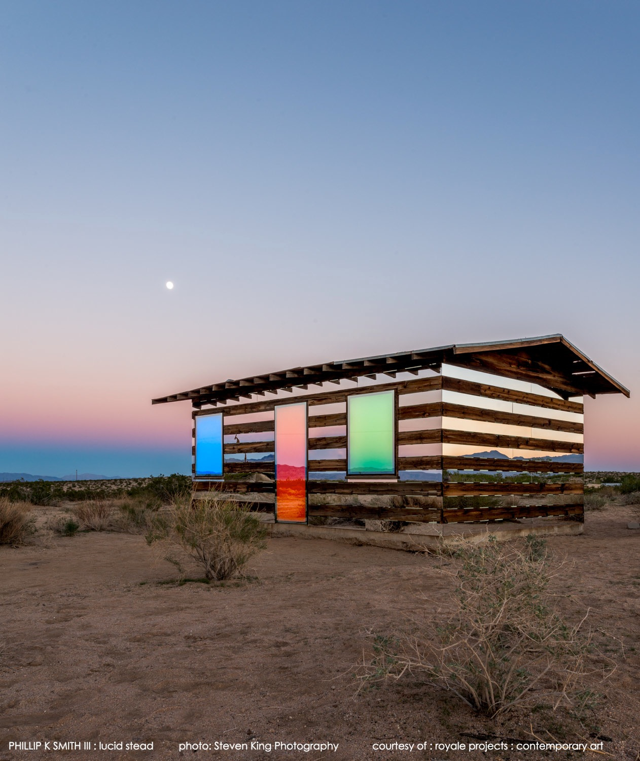 Lucid Stead by Phillip K. Smith III in Joshua Tree, CA. Photo by Steven King Photography.