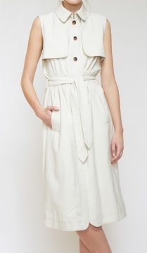 Billy Reid Eloise Sleeveless Trench in Bone.