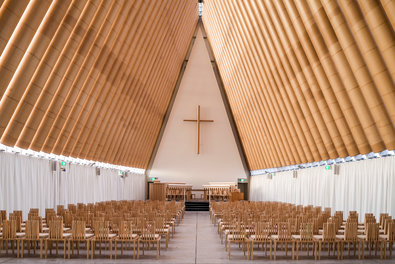 Shigeru Ban's Cardboard Cathedral. Photo: Stephen Goodenough for the New York Times.