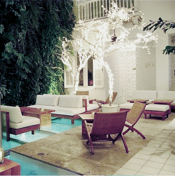 The Aquabar at the Tcherassi Hotel and Spa in Cartagena, Colombia.