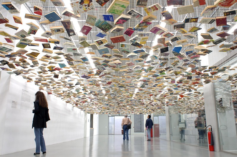 """False Ceiling"" by Richard Wentworth at Istanbul Modern, Turkey."