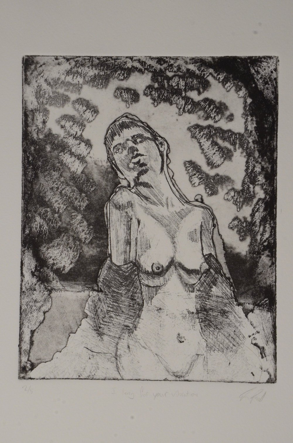 Ian Powell  Soft ground etching  Etching 1